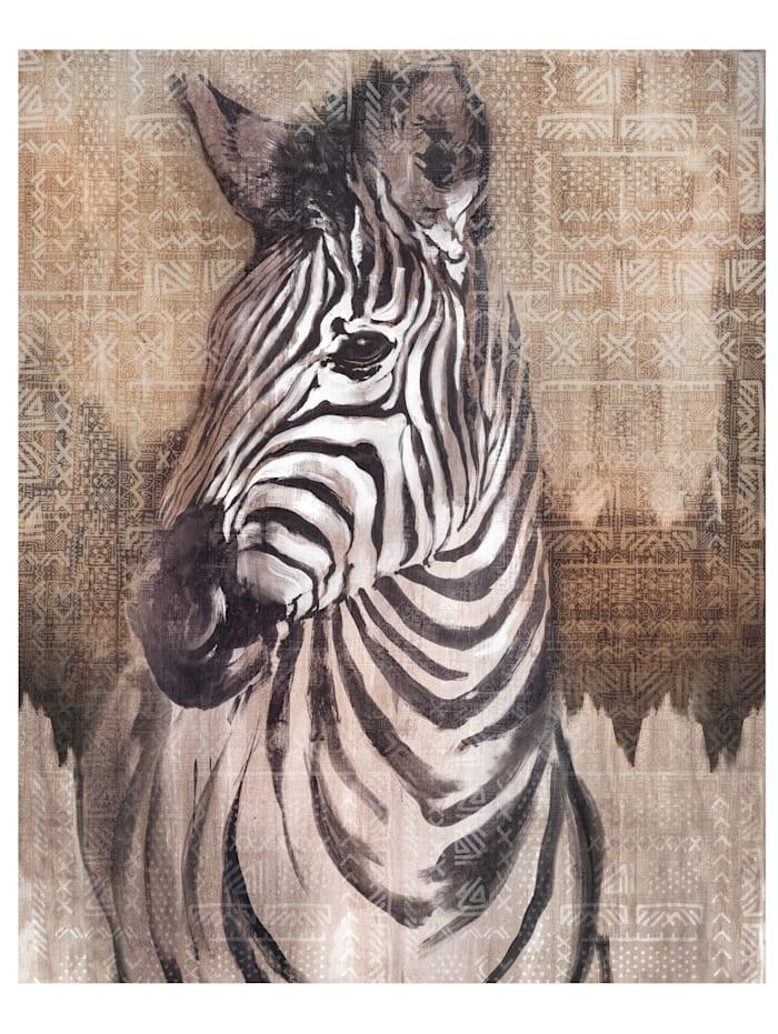 IMPRESSIONEN living Tapete, Zebra, multicolor