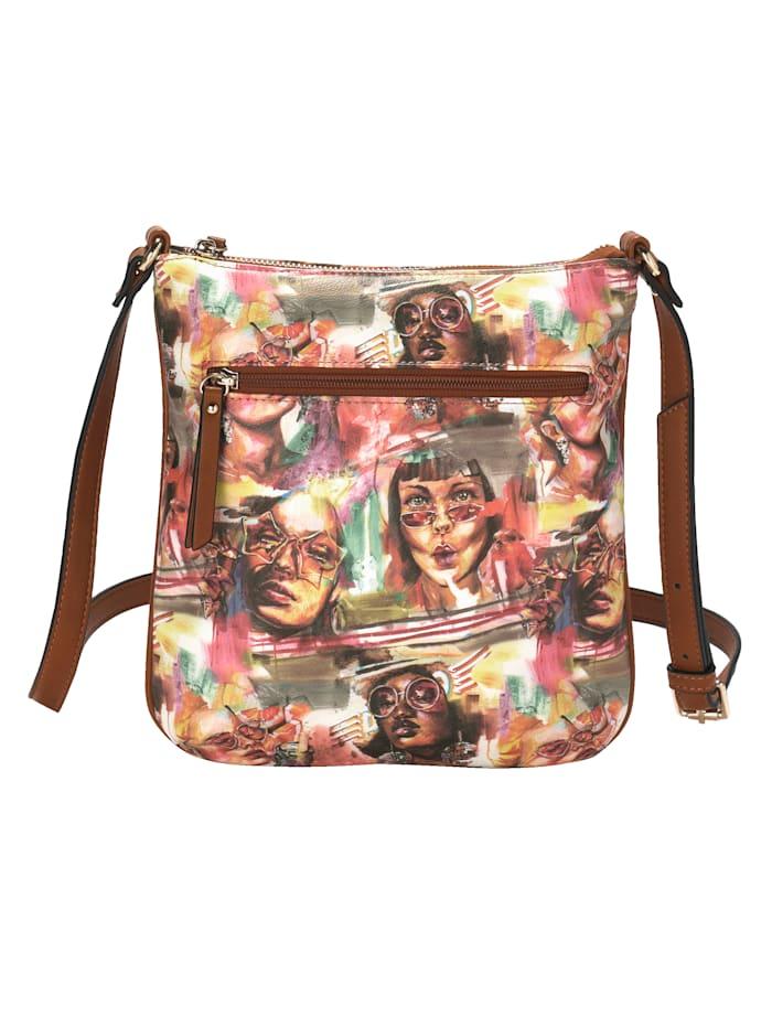 Axelremsväska & liten väska med färgglatt motiv 2 delar