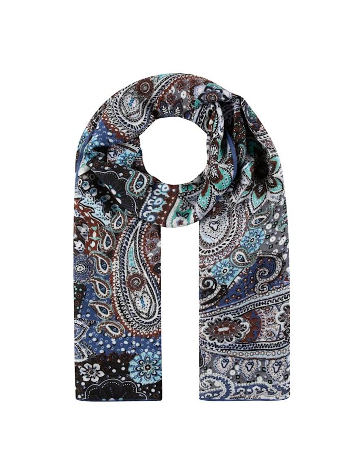 Codello Paisley-Schal aus Viskose, dark blue