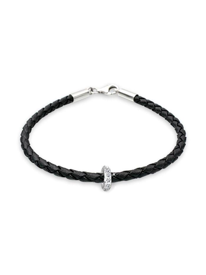 Elli Armband Sammelband Swarovski Kristalle 925 Sterling Silber, Schwarz