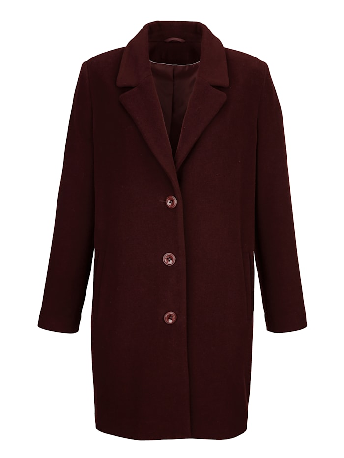 Wool-blend short coat in classic style