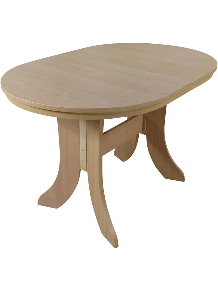 Möbel-Direkt-Online Esstisch, Breite 120-160 cm Antie, Buche-Nachbildung