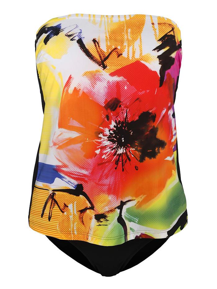 Féraud Tankini in bandeaumodel, Multicolor