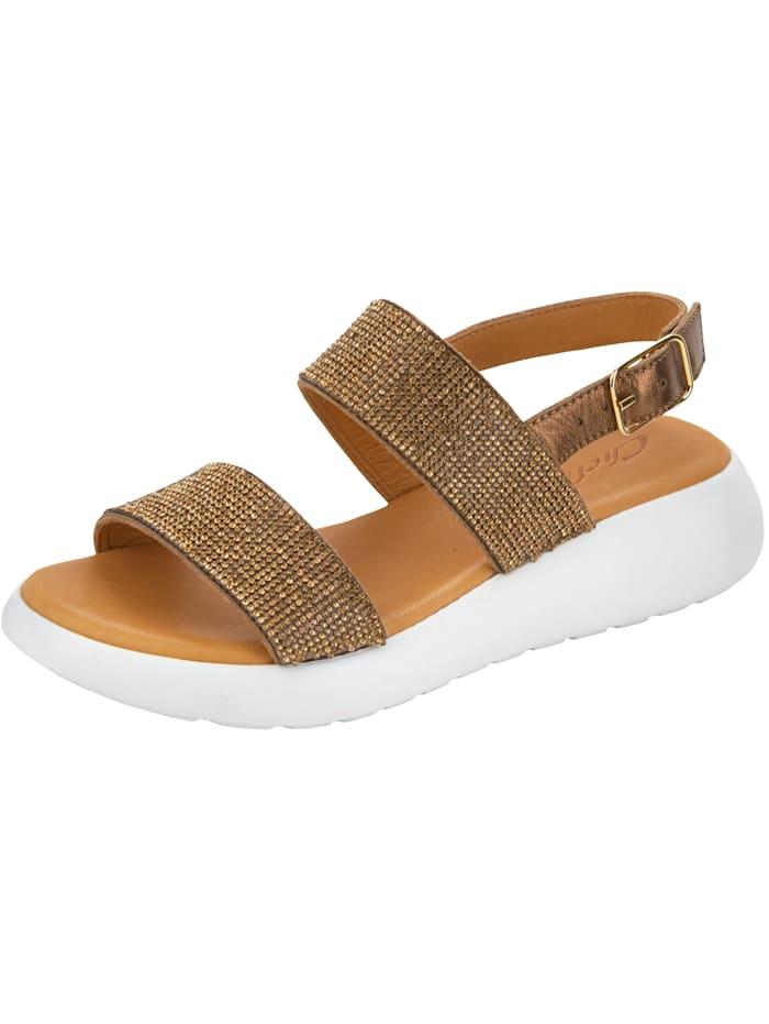 WENZ Sandaaltje met fonkelende steentjes, Bronskleur