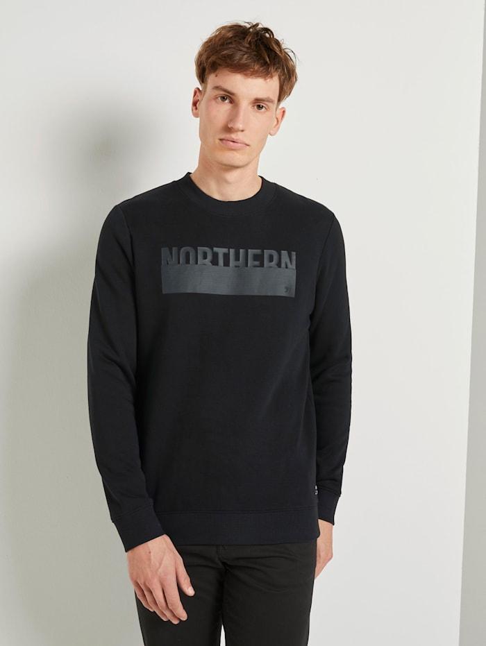 Tom Tailor Denim Sweatshirt mit Print, Black