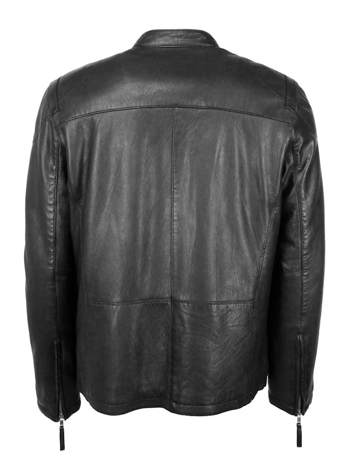 Lederjacke mit zwei Brusttaschen