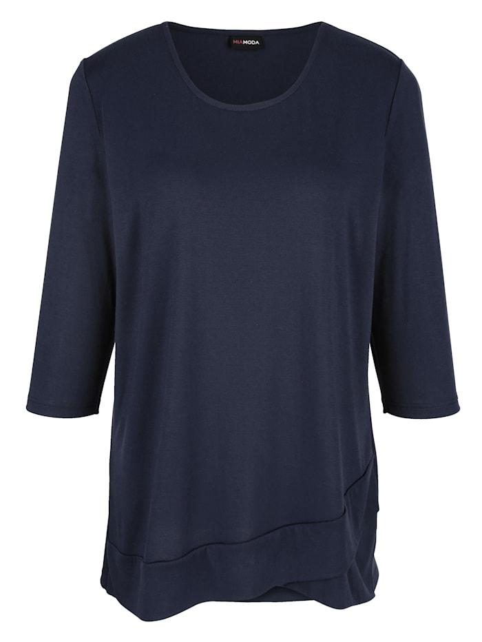 Shirt mit diagonalem Saum