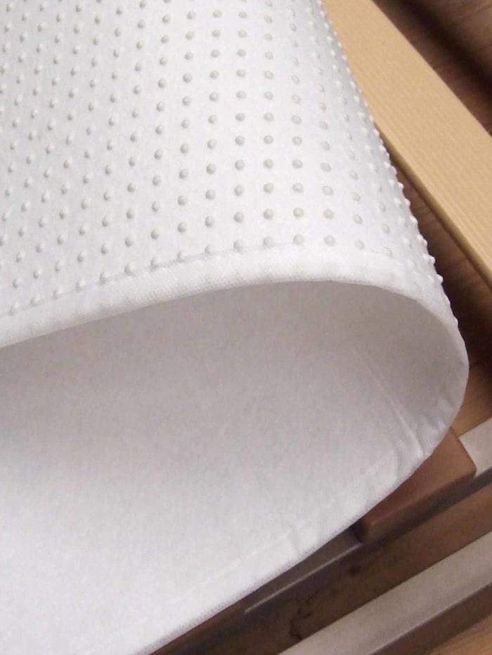 Biberna Matrasbeschermer met noppen 'Sleep & Protect', wit
