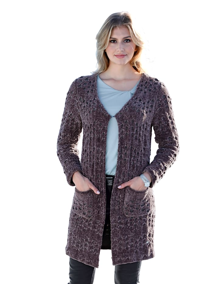 Vest in chenille-look
