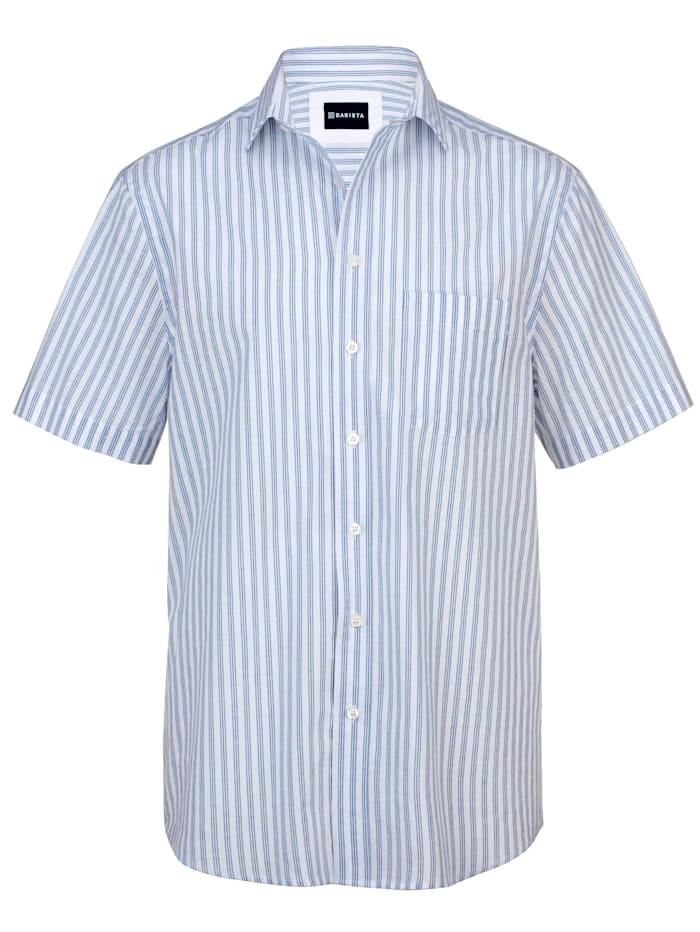 BABISTA Seersuckerhemd, Weiß/Hellblau