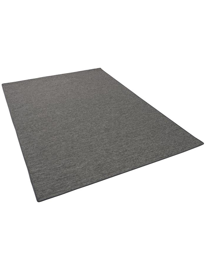 Snapstyle Sisal-Optik Designer Flachgewebe Teppich Pure Meliert, Anthrazit