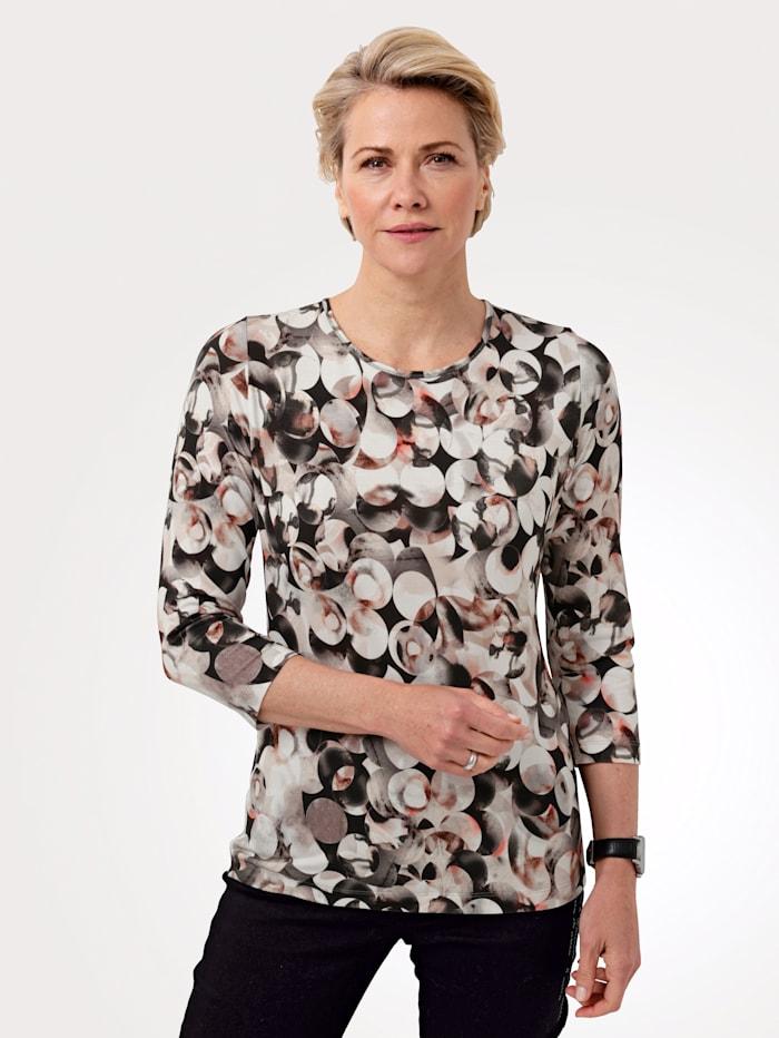 Rabe Shirt mit Allover-Druck, Grau/Rot