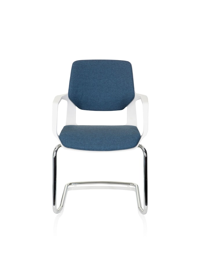 hjh OFFICE Besucherstuhl Konferenzstuhl FREE V WHITE, Blau