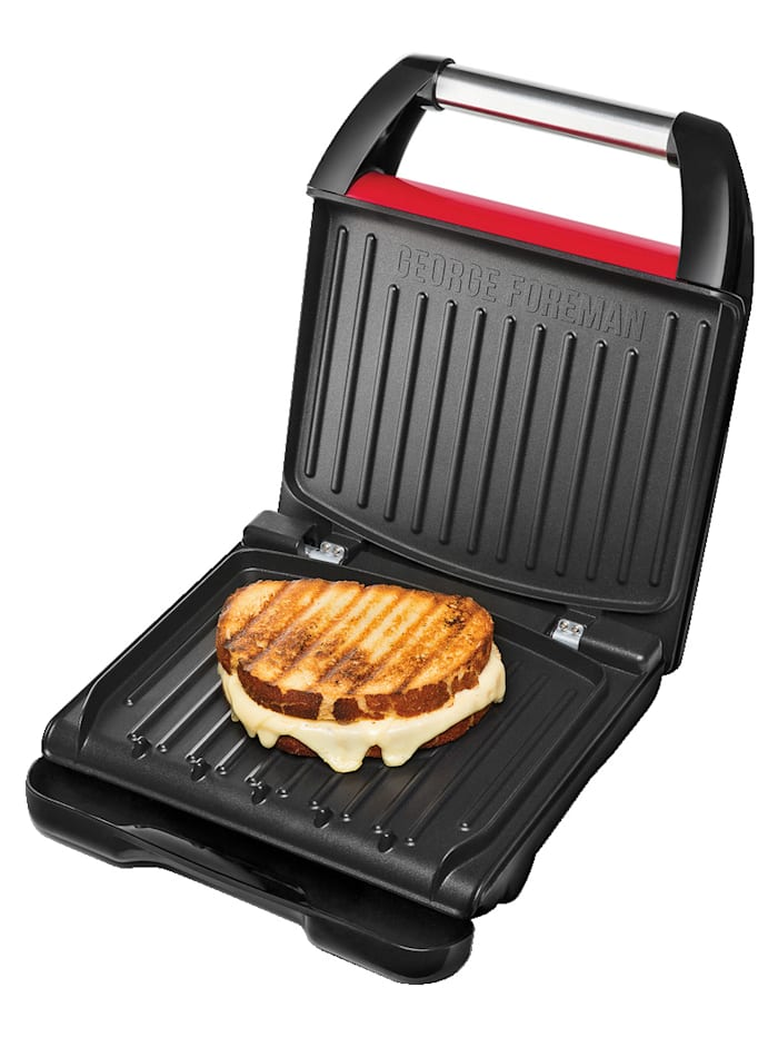 "George Foreman Appareil à croque-monsieur ""Steel Family"" George Foreman 25040-56, Rouge"