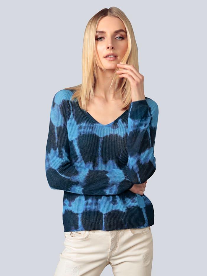 Princess GOES HOLLYWOOD Pullover im Batikdruck, Blau