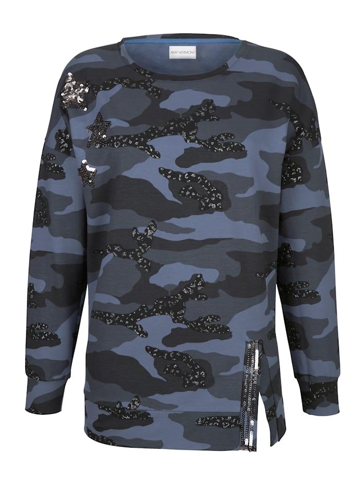 Sweatshirt im allover Druck