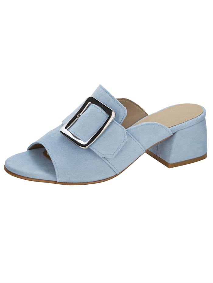 WENZ Pantolette mit imposanter Schließe, Hellblau