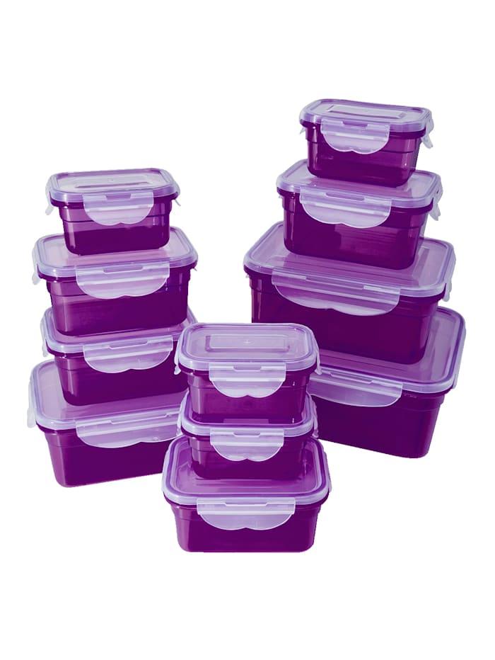 HELU 22tlg. Frischhaltedosen-Set, lila, Lila