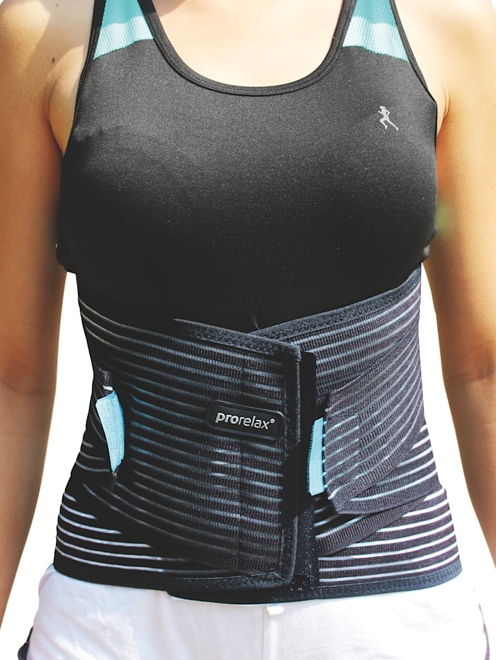 Prorelax Prorelax® Coolfit rugbandage, zwart