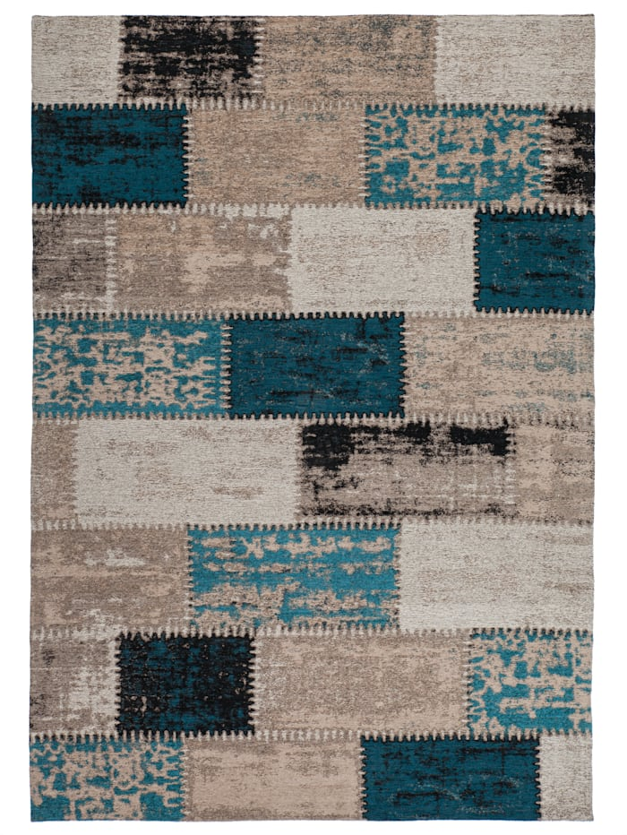 Kayoom Vintage Teppich Finley, Türkis / Multi