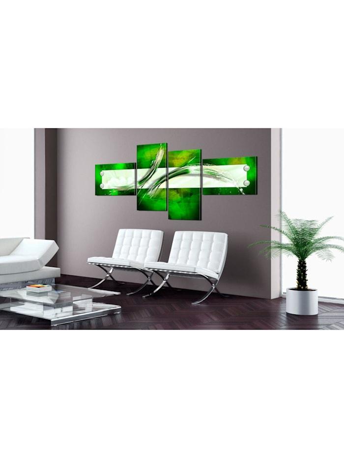 Wandbild grün  abstraktes Motiv