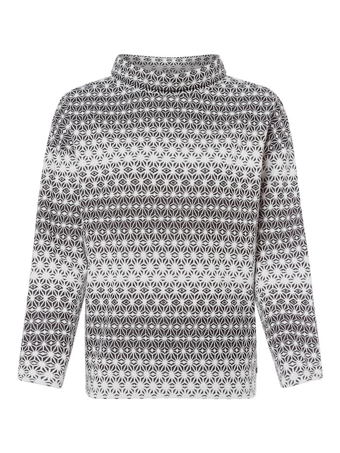 Olsen Sweatshirt mit Rollkragen, Dark Ash