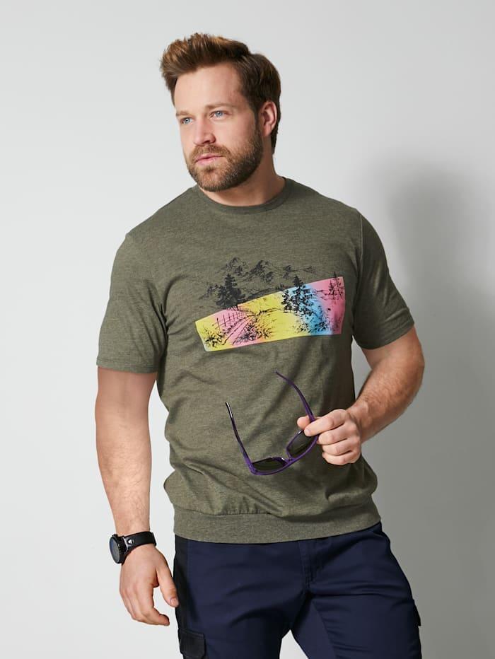 Men Plus T-Shirt Spezialschnitt, Oliv