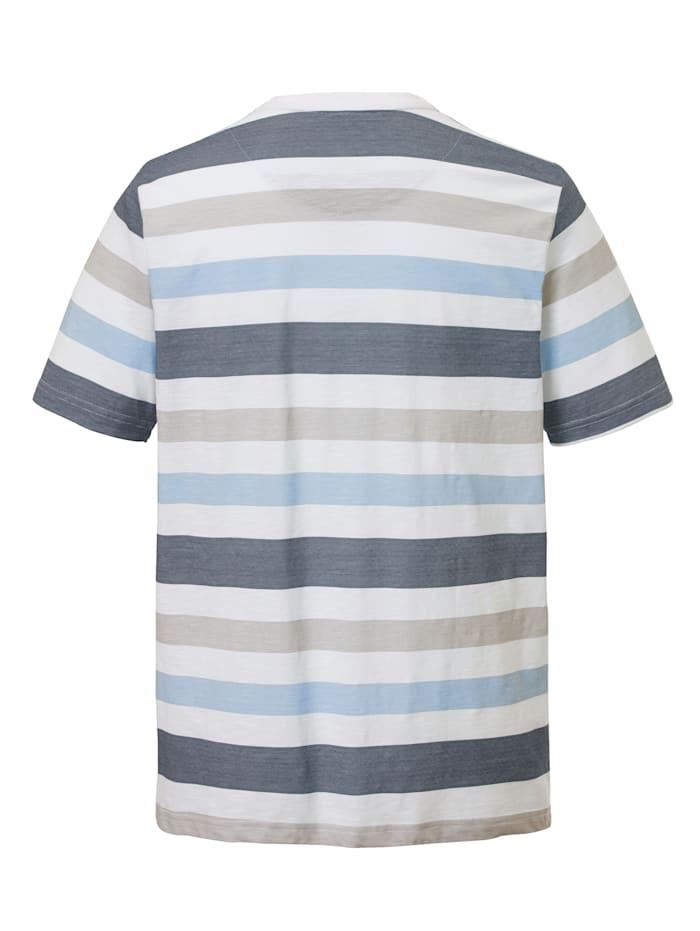T-shirt à motif rayé imprimé
