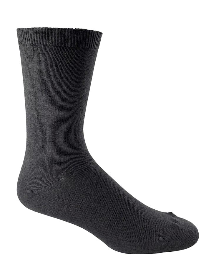 H&B Strumpf XXL-Komfort-Socke mit Extradehnung, Anthrazit