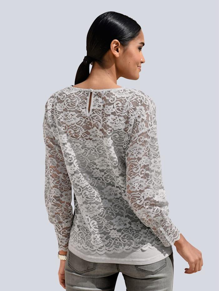 Shirt aus transparenter Spitze
