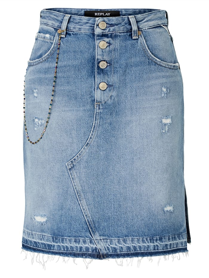 REPLAY Jeansrock, Jeansblau