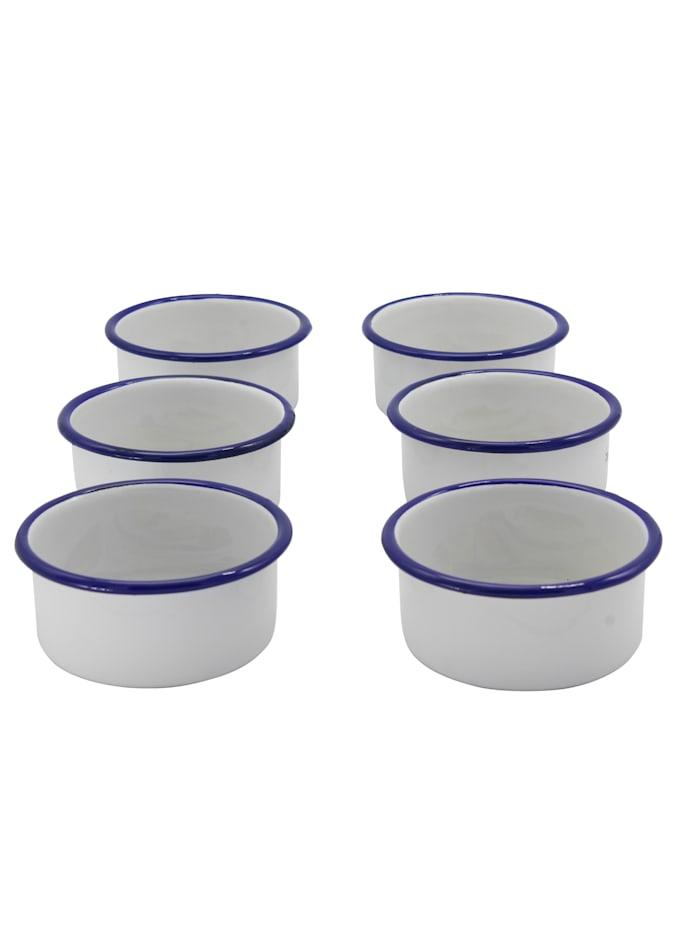Krüger Set van 6 serveerschaaltjes, Wit