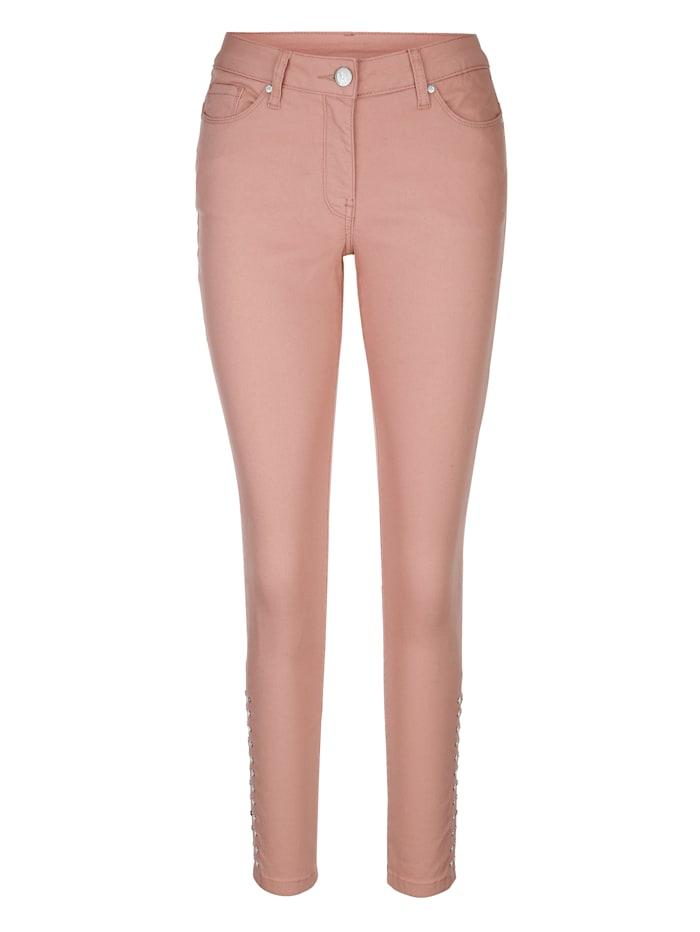AMY VERMONT Jeans mit Nieten, Rosé