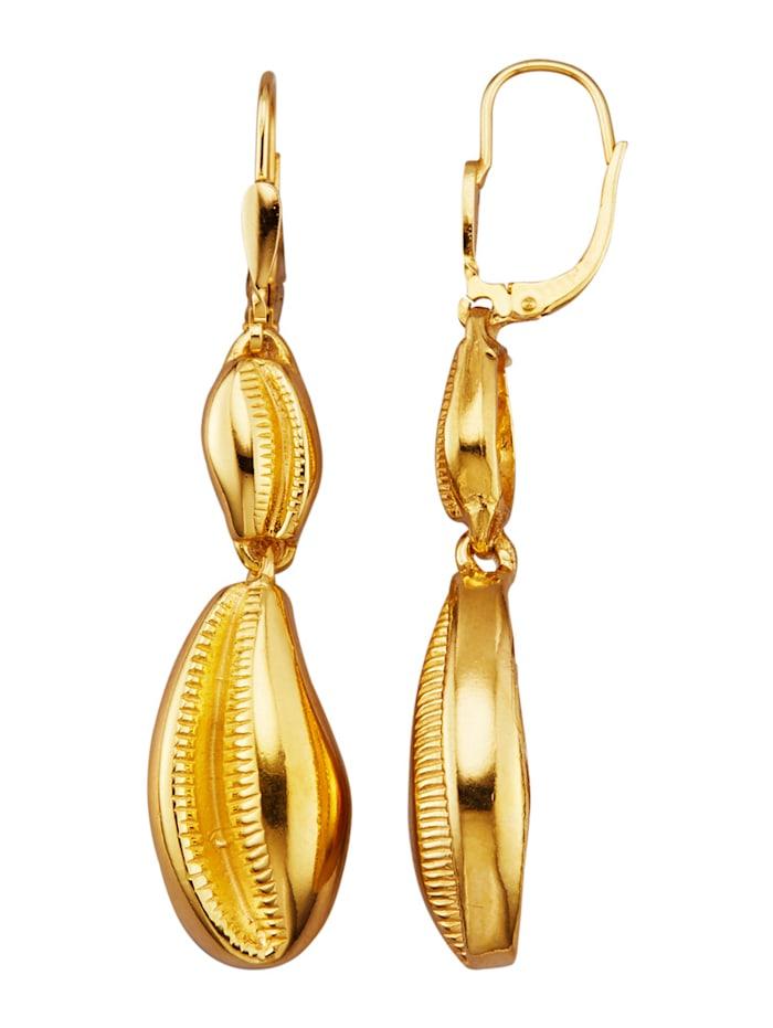 Ursula Christ Boucles d'oreilles En argent 925, doré, Coloris or jaune