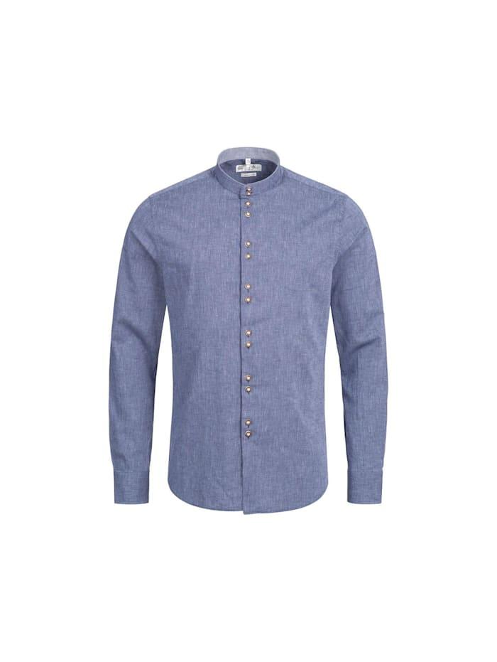 Gweih&Silk Trachtenhemd, Blau