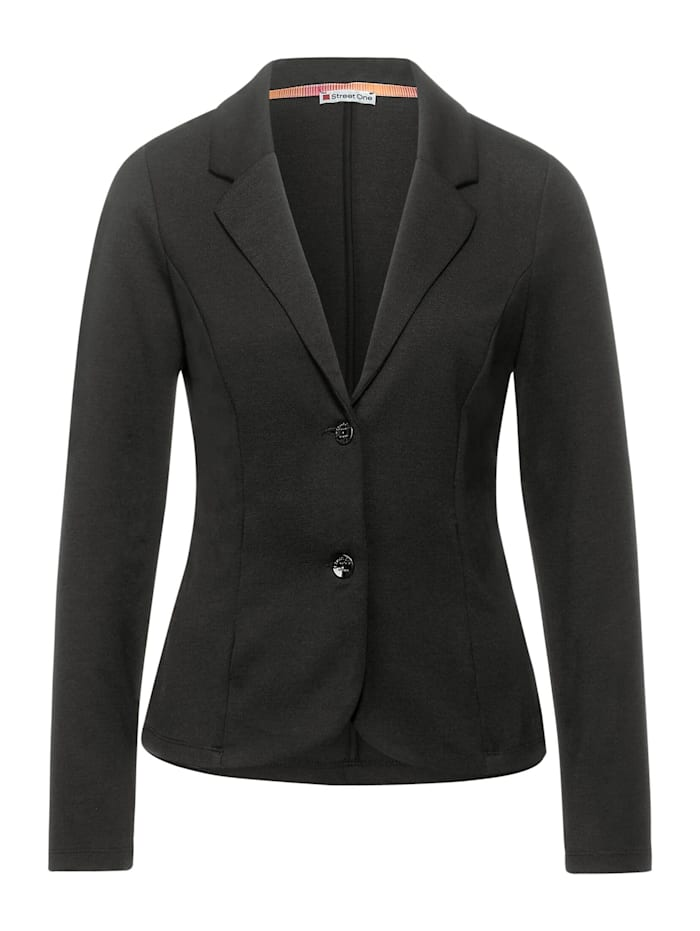 Street One Unifarbener Business Blazer, darkish pistachio
