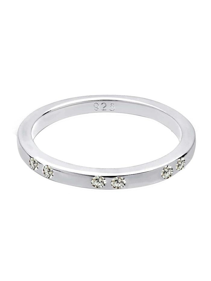 Ring Kristalle 925 Sterling Silber