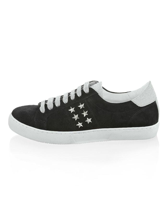 Sneaker aus Rindsveloursleder
