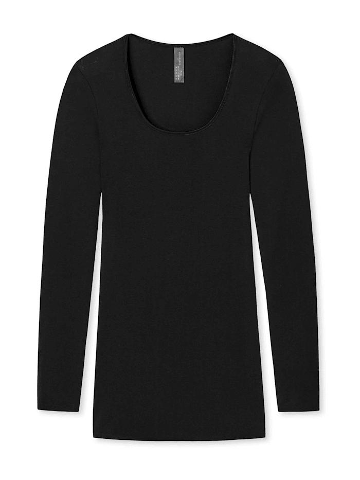 Schiesser Shirt Langarm, schwarz
