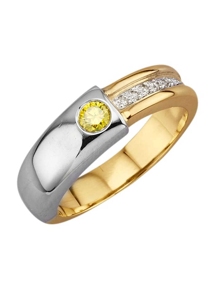 Amara Diamants Bague avec brillants, Jaune