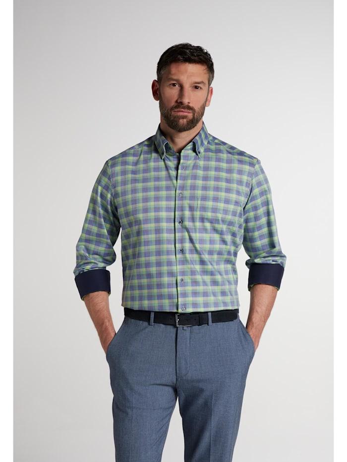 Eterna Eterna Langarm Hemd COMFORT FIT, grün/blau
