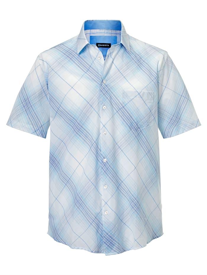 BABISTA Overhemd van zuiver katoen, Wit/Lichtblauw