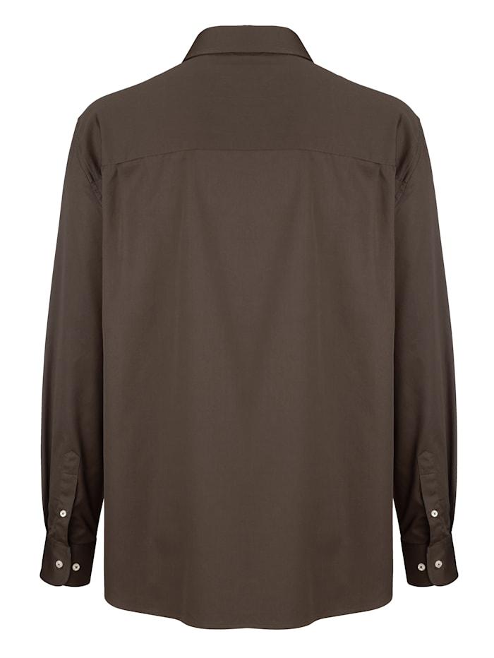 Bomullsskjorta med detaljer i kontrast
