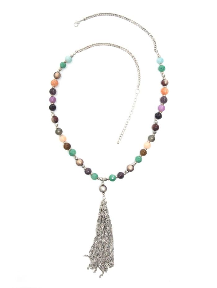 Collezione Alessandro Lange Kette Hannah Kette mit Perlen aus echtem Achat, mehrfarbig