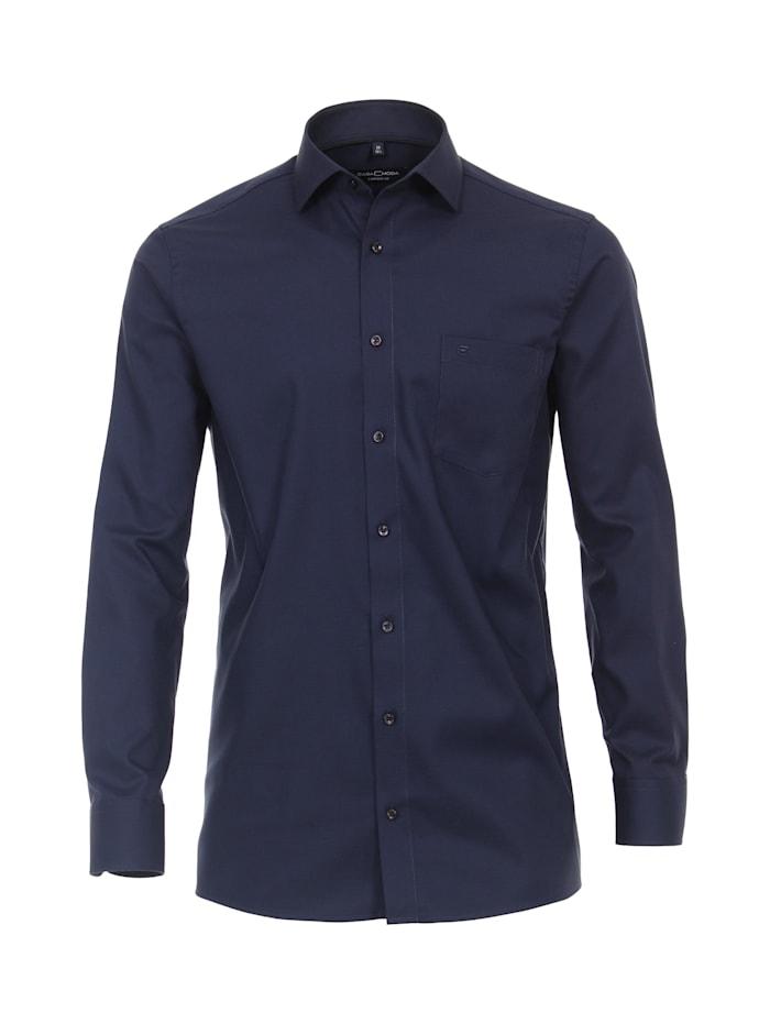 CASAMODA Hemd uni Comfort Fit, Mittelblau