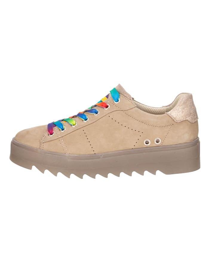 Sneakers à plateau à lacets colorés