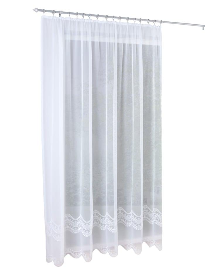 Stickereien & Textilien Gardin -Edigna-, hvit