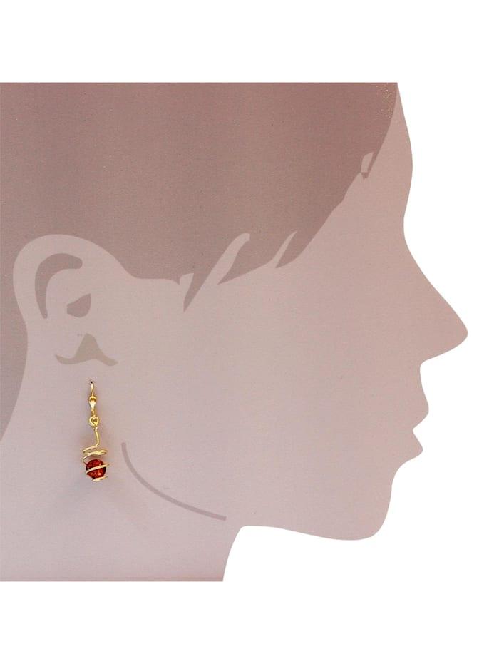 Ohrhänger - Spirale - Gold 333/000 - Bernstein