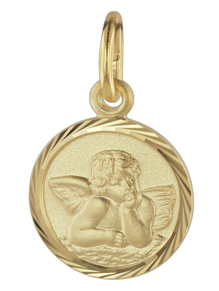 trendor Schutzengel Anhänger Gold 585, Goldfarben