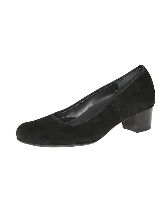 Rebecca von Lengfeld Escarpins en cuir velours extensible, Noir